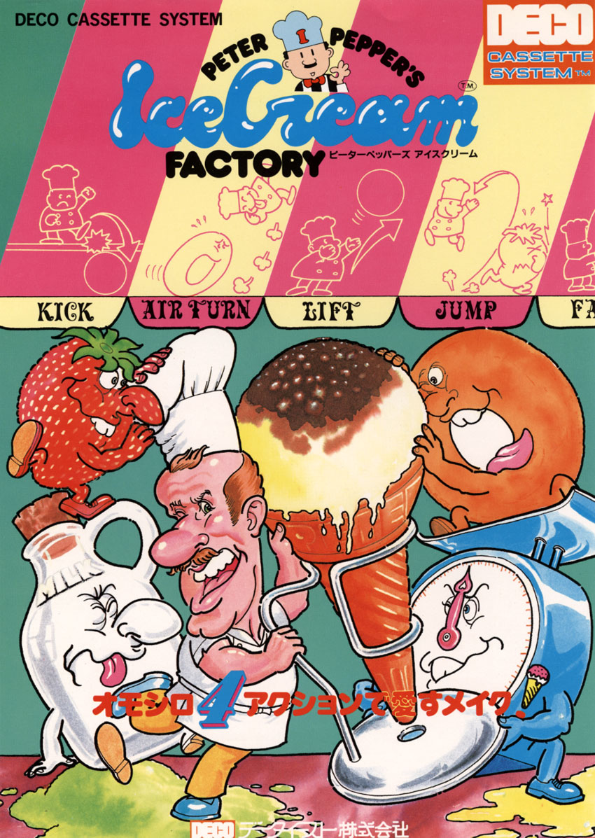 Peter Pepper's Ice Cream Factory (DECO Cassette) (US) (set 1) flyer
