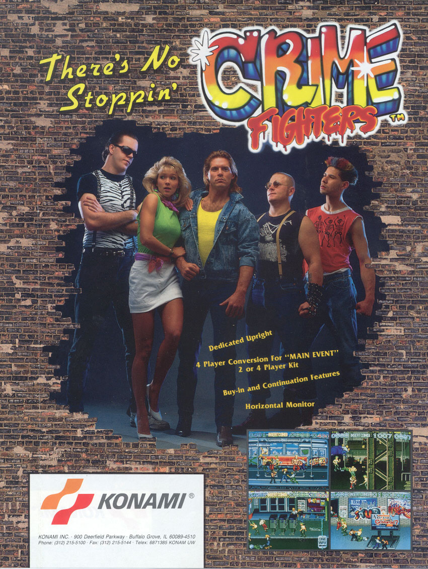 Crime Fighters (World 2 players) flyer