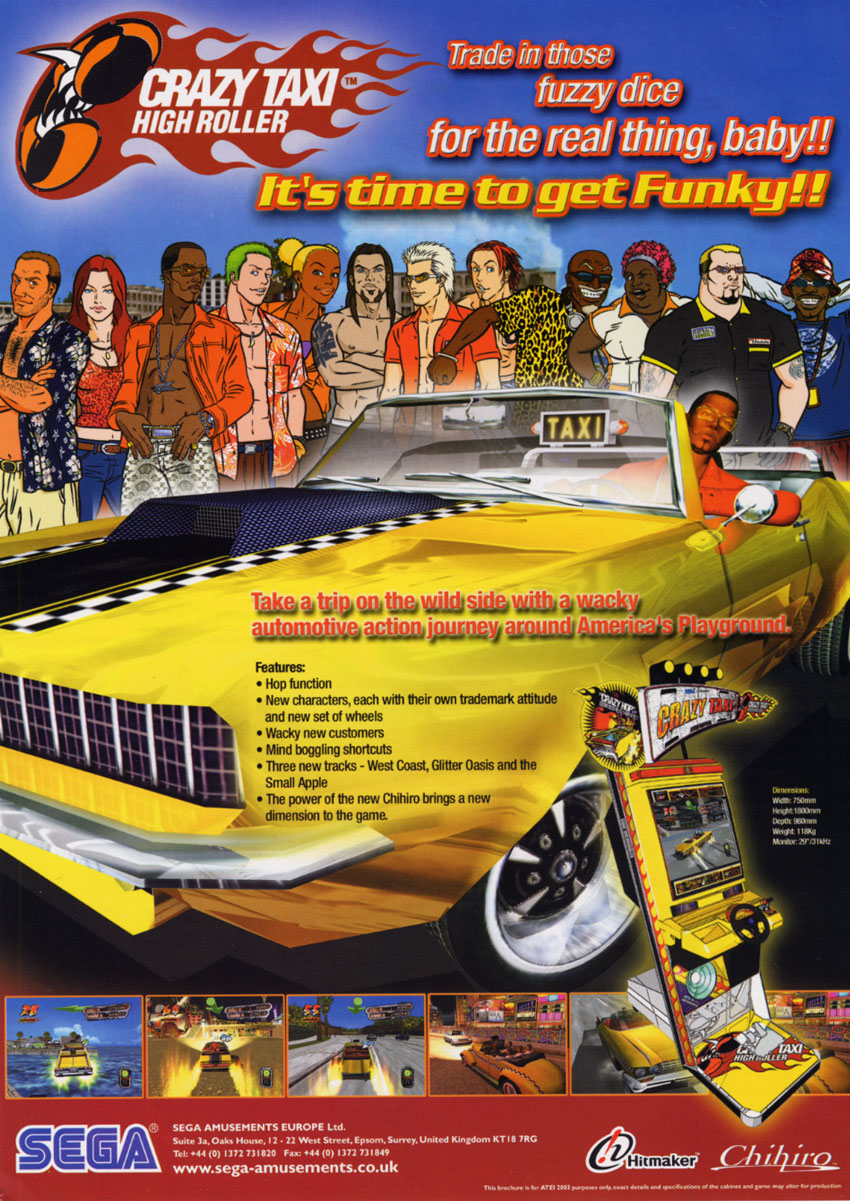 Crazy Taxi High Roller (Rev B) (GDX-0002B) flyer