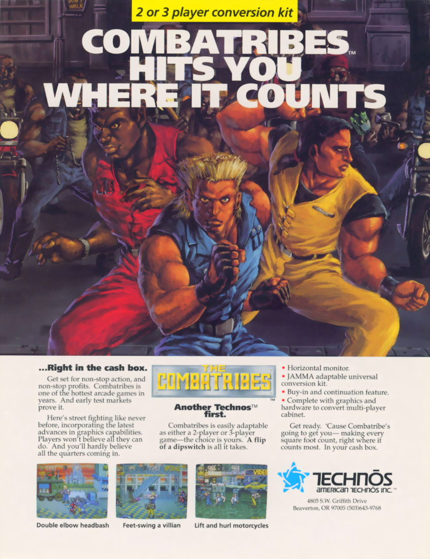 The Combatribes (US) flyer
