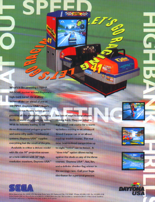 Daytona USA (Japan, Turbo hack, set 1) flyer