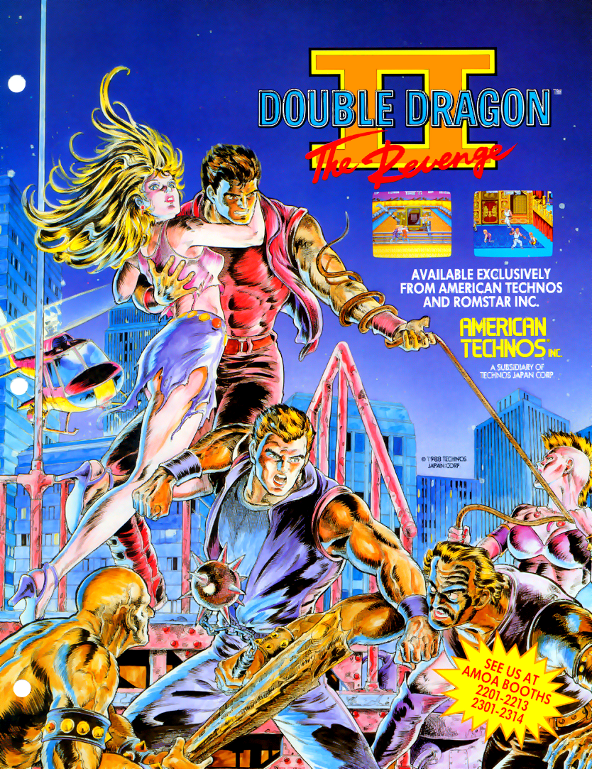 Double Dragon II - The Revenge (US) flyer