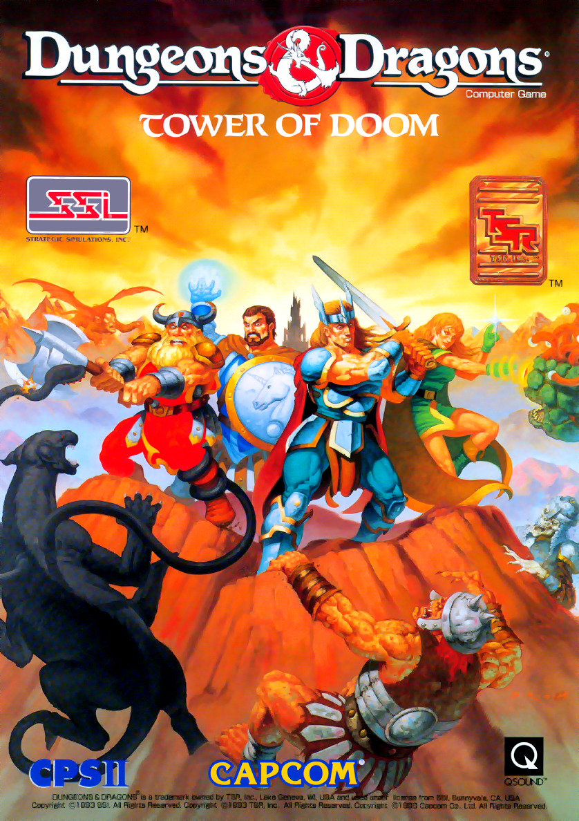 Dungeons & Dragons: Tower of Doom (Euro 940412) flyer