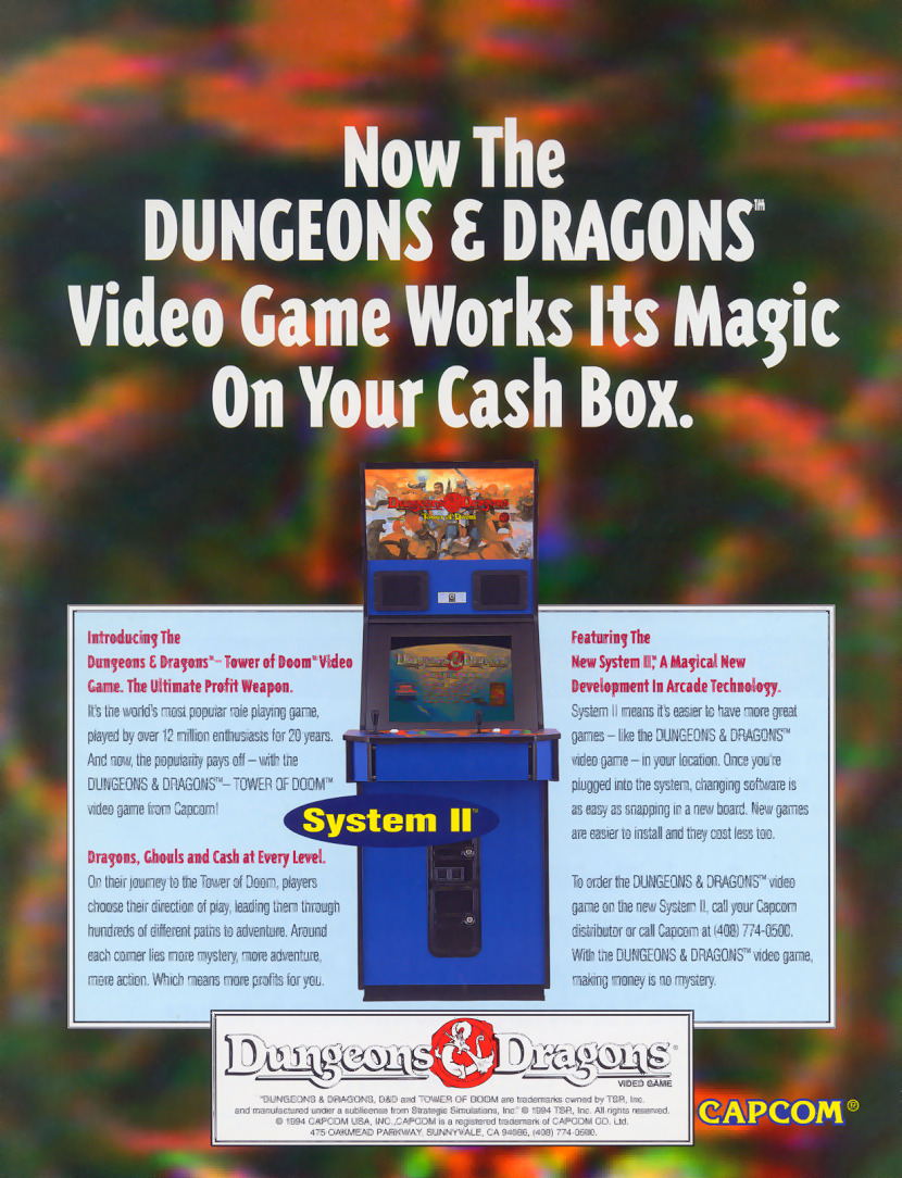 Dungeons & Dragons: Tower of Doom (Hispanic 940125) flyer