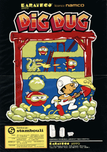 Dig Dug (manufactured by Sidam) flyer