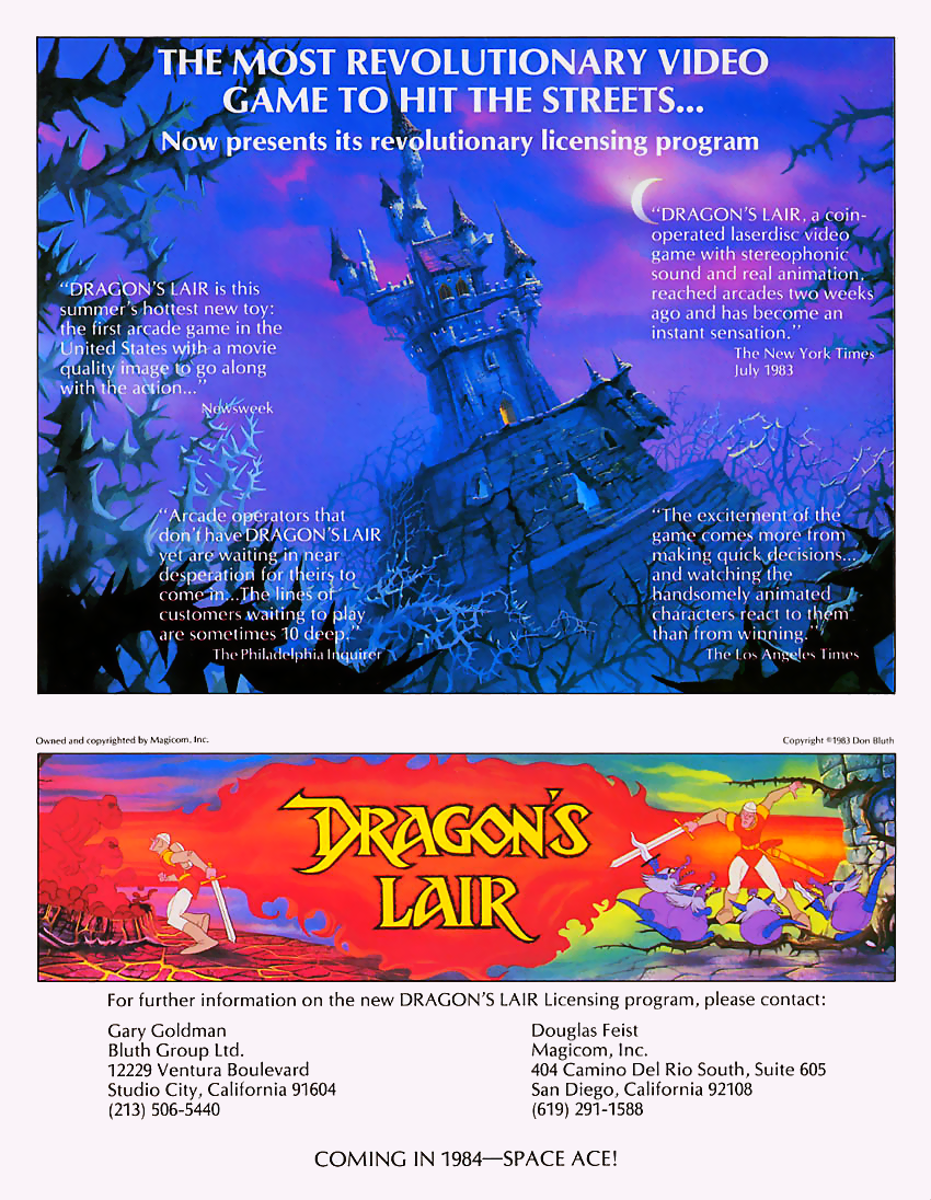 Dragon's Lair (US Rev. B, Pioneer PR-7820) flyer