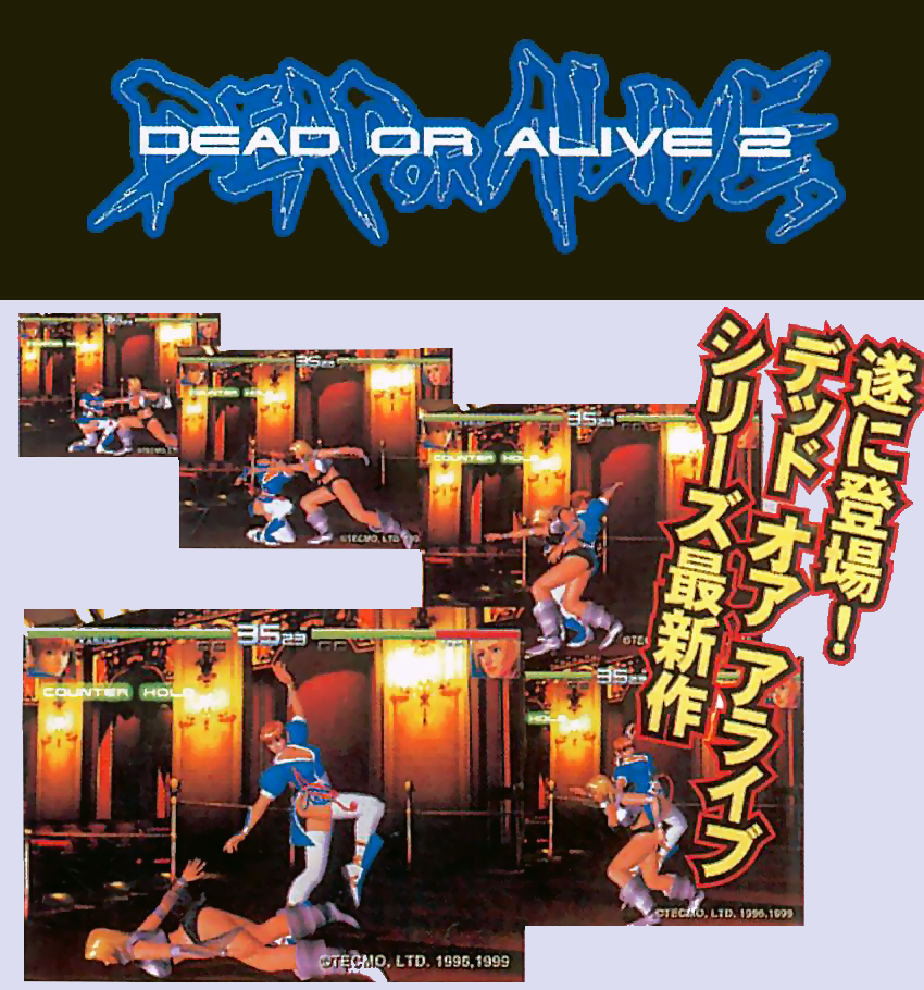 Dead or Alive 2 flyer