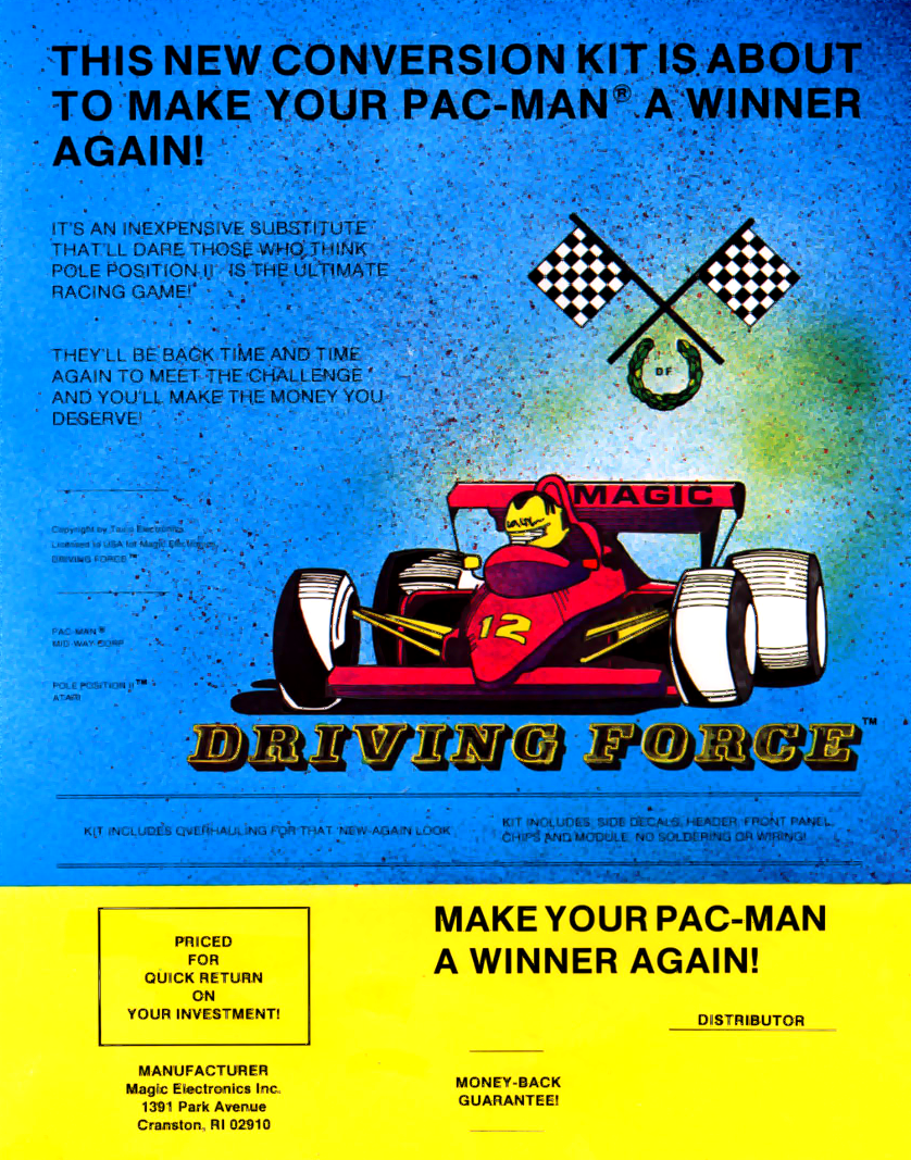 Driving Force (Pac-Man conversion) flyer