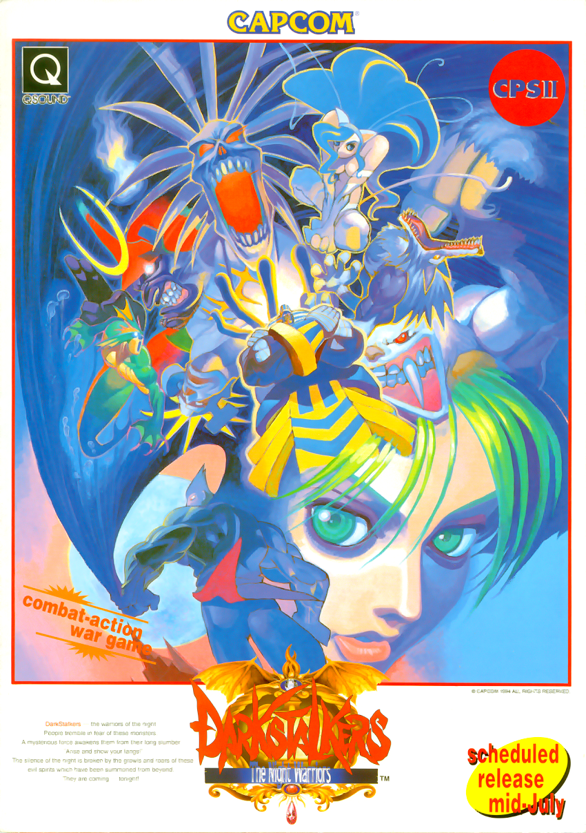 Darkstalkers: The Night Warriors (Euro 940705) flyer