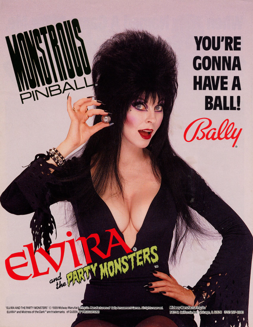 Elvira and the Party Monsters (LA-4) flyer