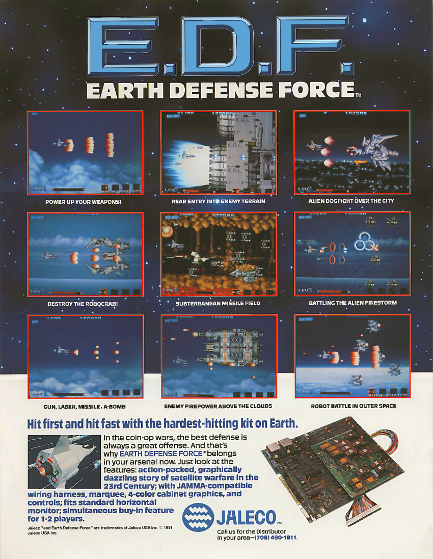 E.D.F. : Earth Defense Force (set 1) flyer