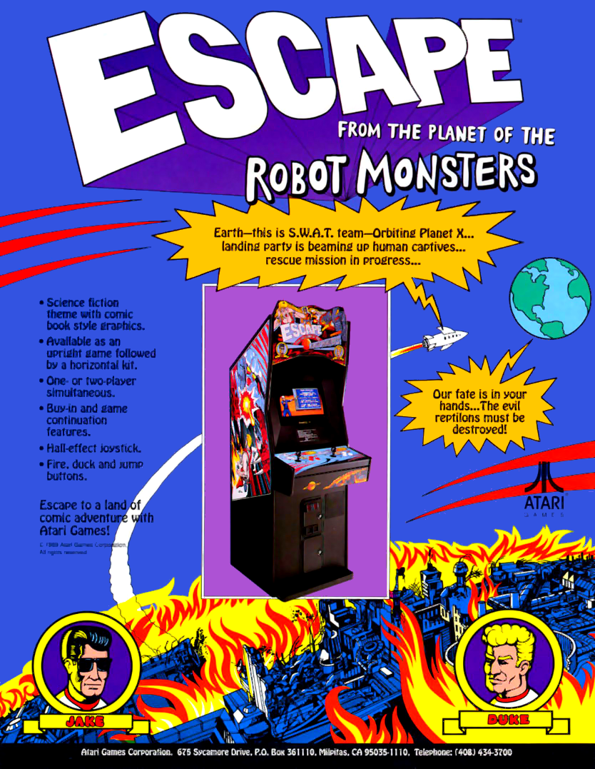 Escape from the Planet of the Robot Monsters (set 2) flyer