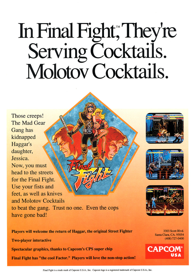 Final Fight (US) flyer