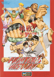 Fighter's History (Japan ver 41-07, DE-0395-1 PCB) flyer