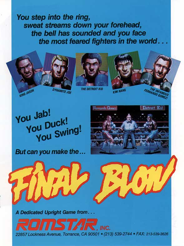 Final Blow (World) flyer