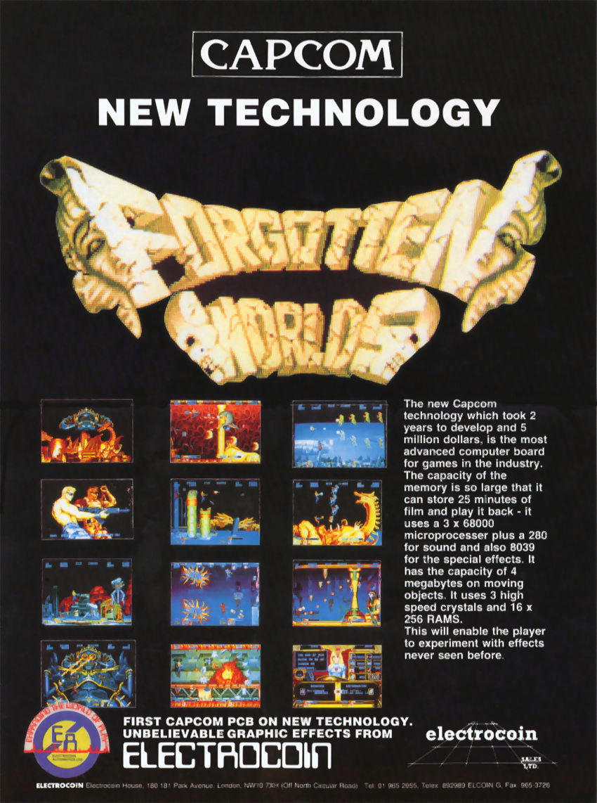 Forgotten Worlds (World, newer) flyer