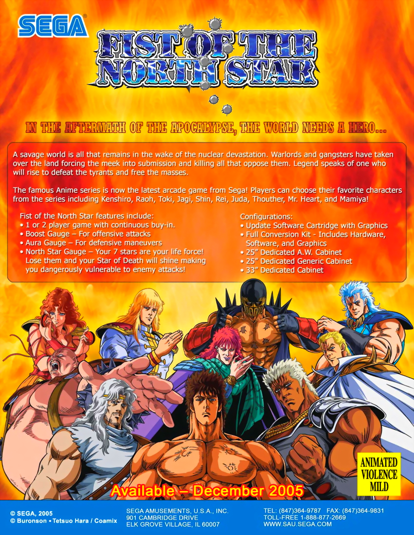 Fist Of The North Star flyer