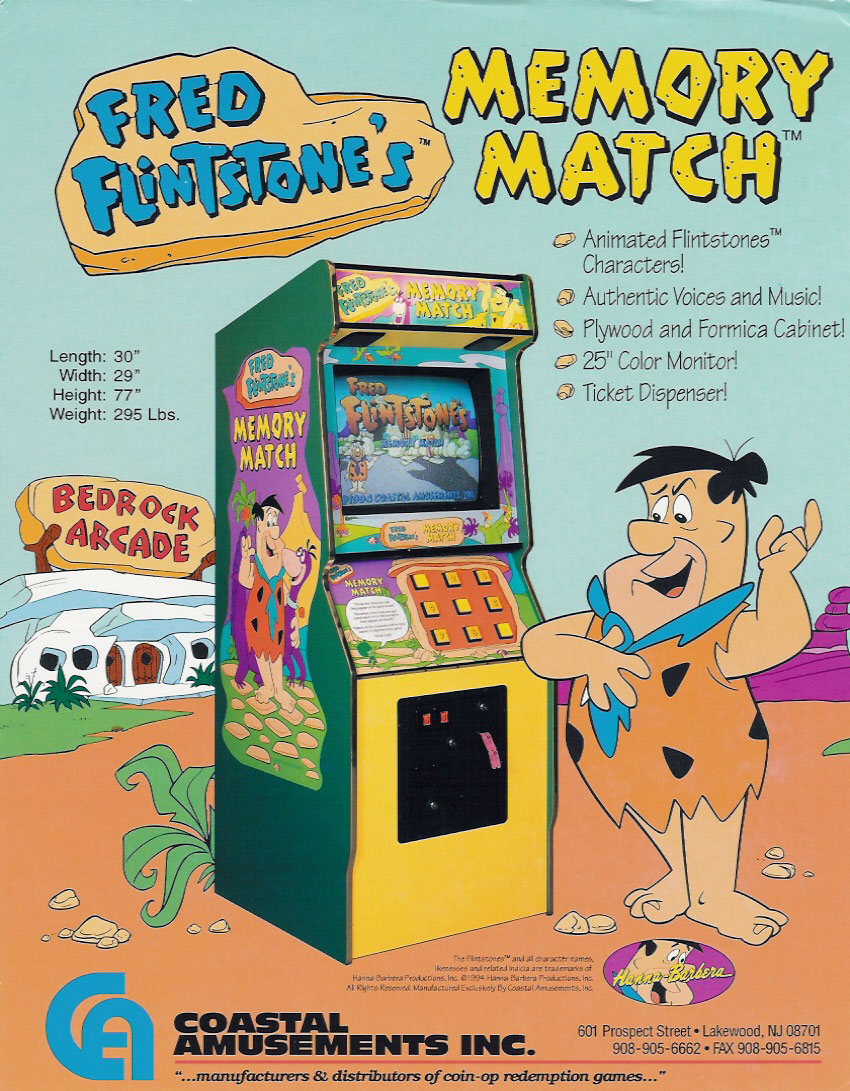 Fred Flintstones' Memory Match (World?, Ticket version, 3/17/95) flyer