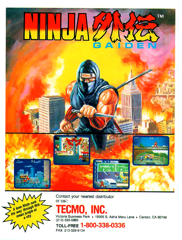 Ninja Gaiden (US) flyer