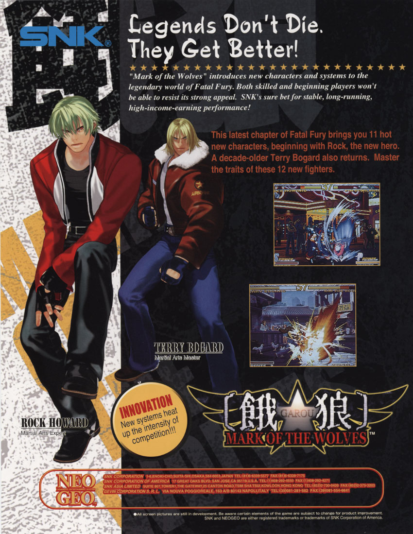 Garou: Mark of the Wolves (Set 2) flyer