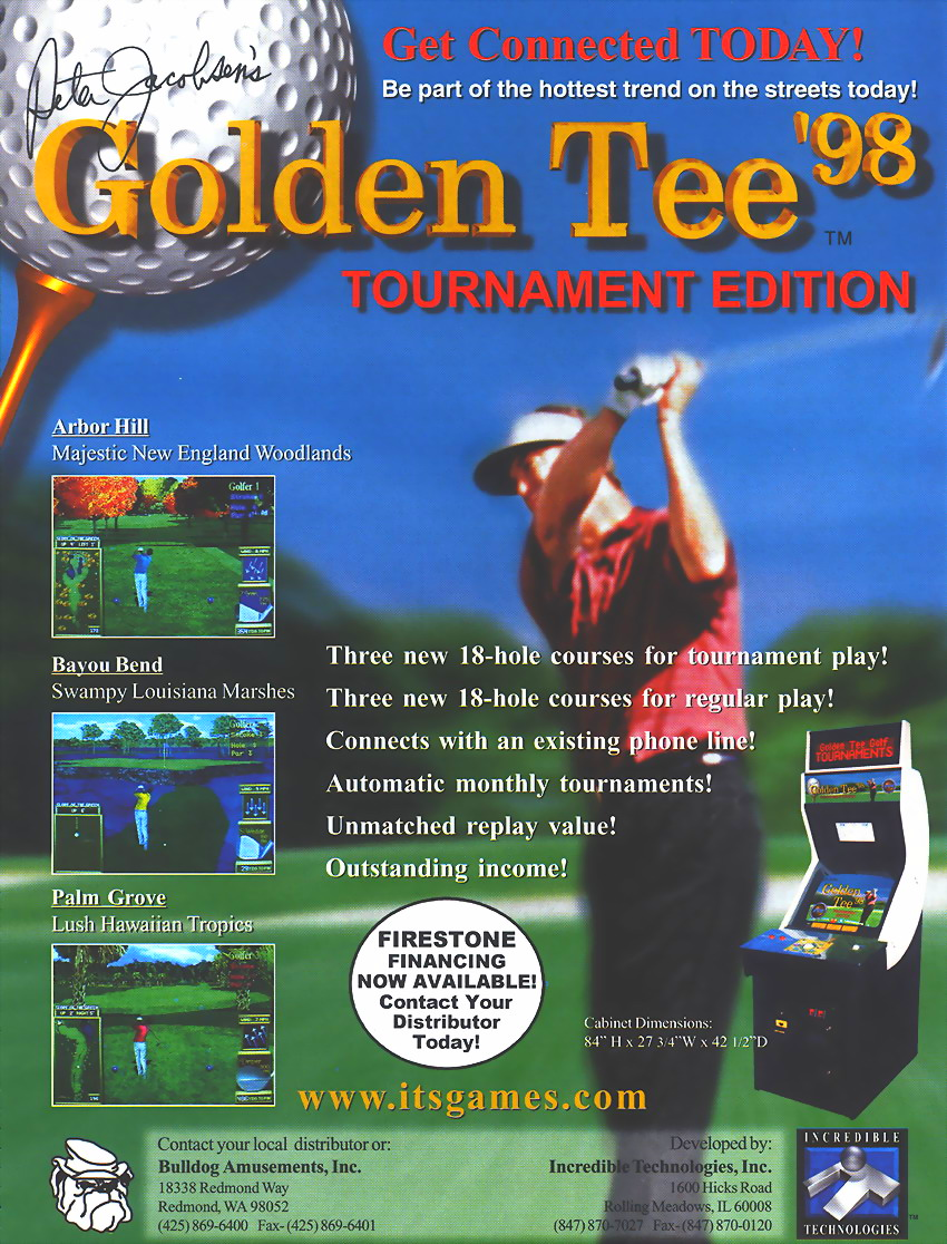 Golden Tee '98 (v1.10) flyer
