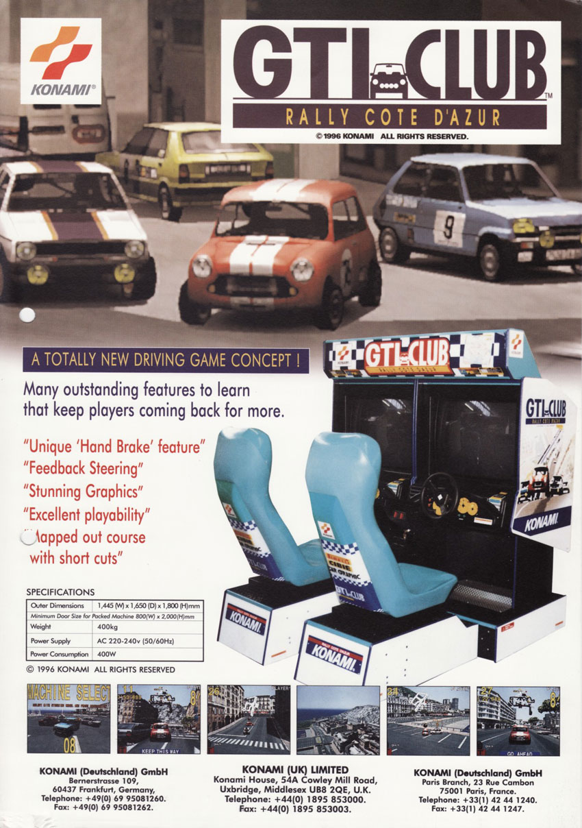 Konami GT for Arcade Games - GameFAQs