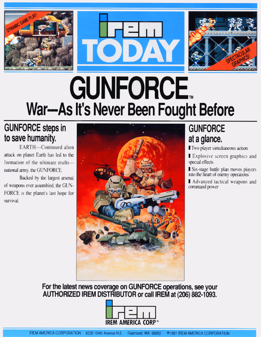 Gunforce - Battle Fire Engulfed Terror Island (World) flyer