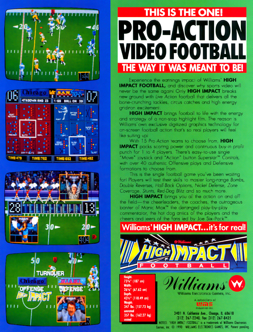 High Impact Football (rev LA3 12/27/90) flyer