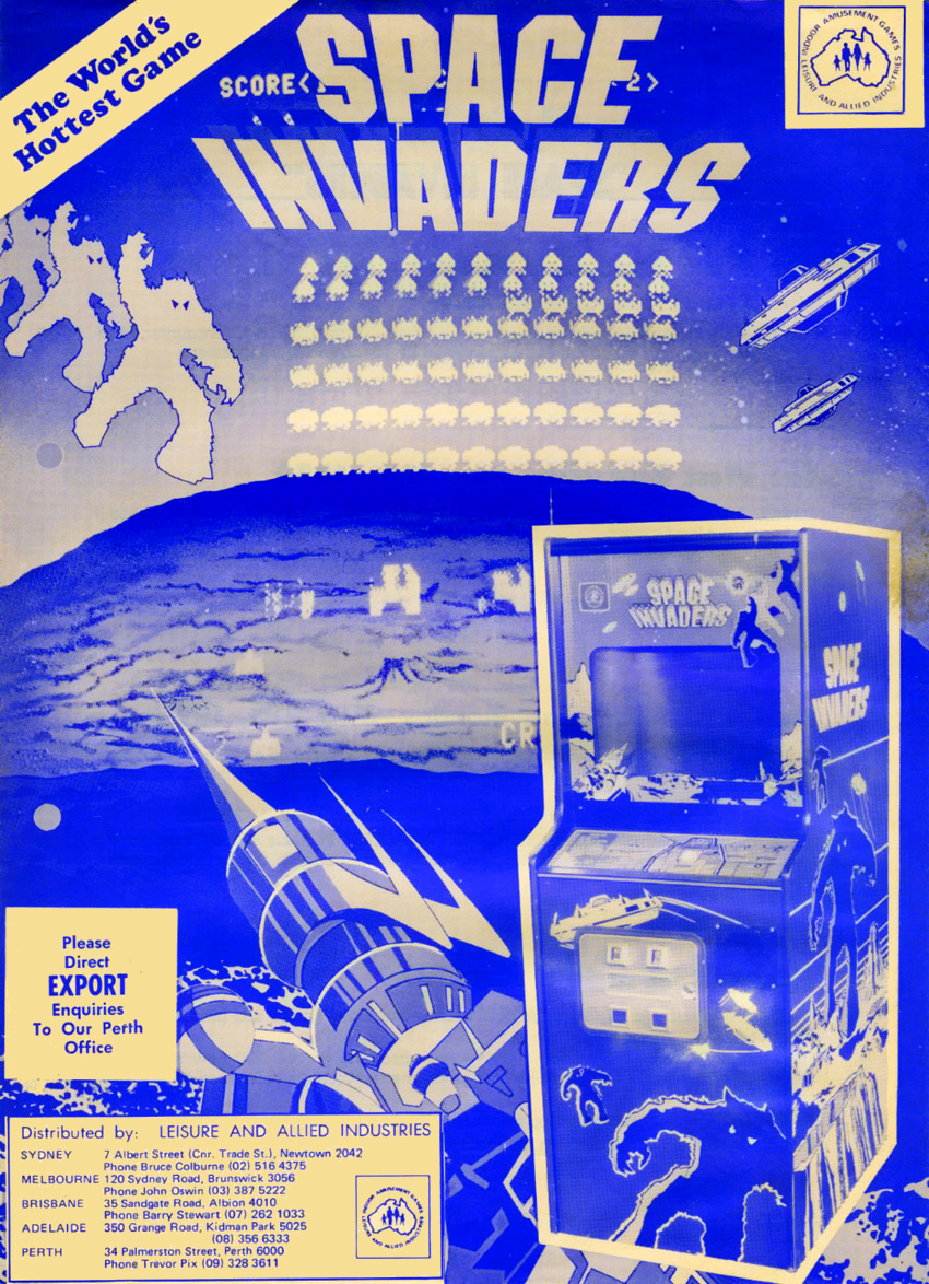 Space Invaders II (Midway, cocktail) flyer