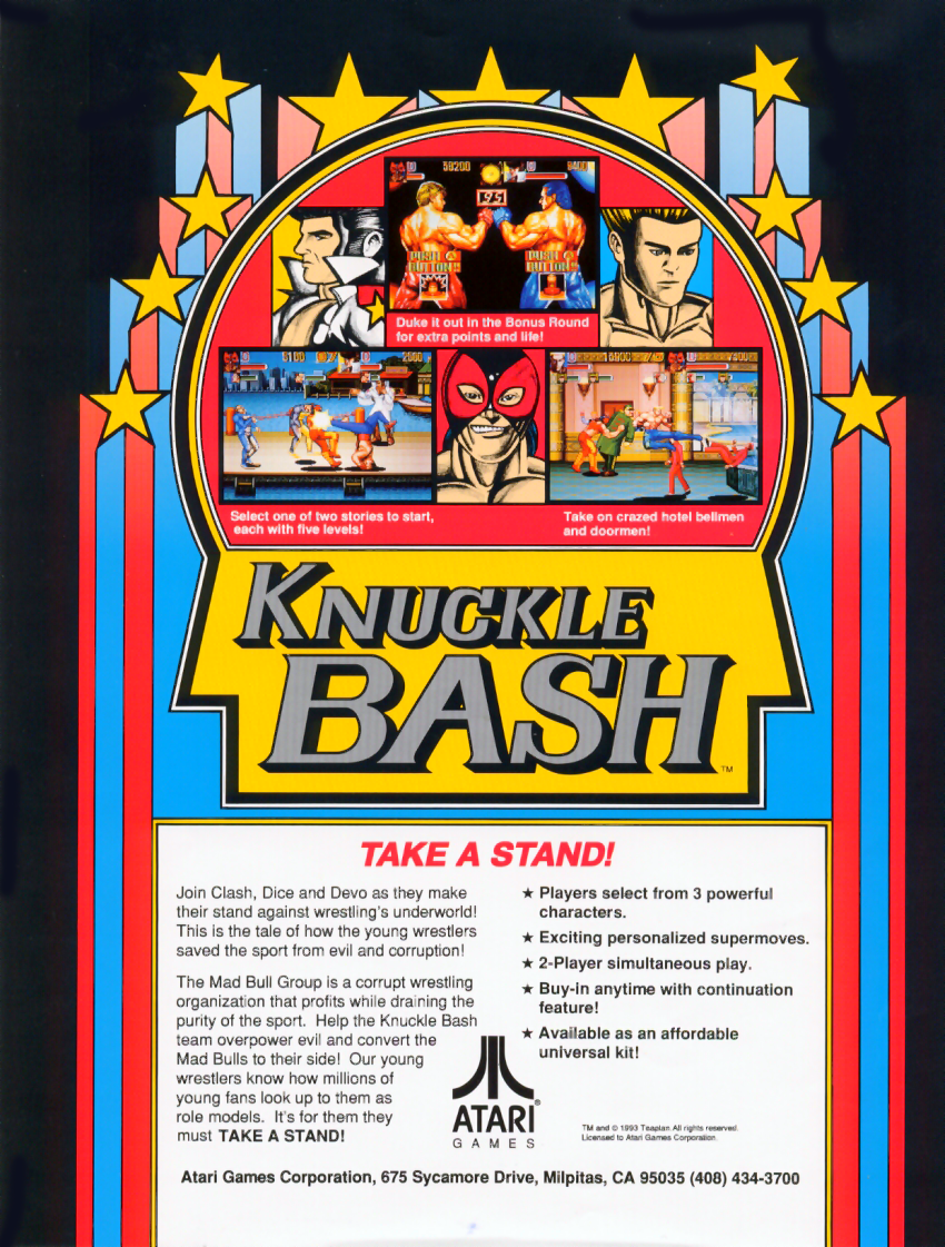 Knuckle Bash flyer
