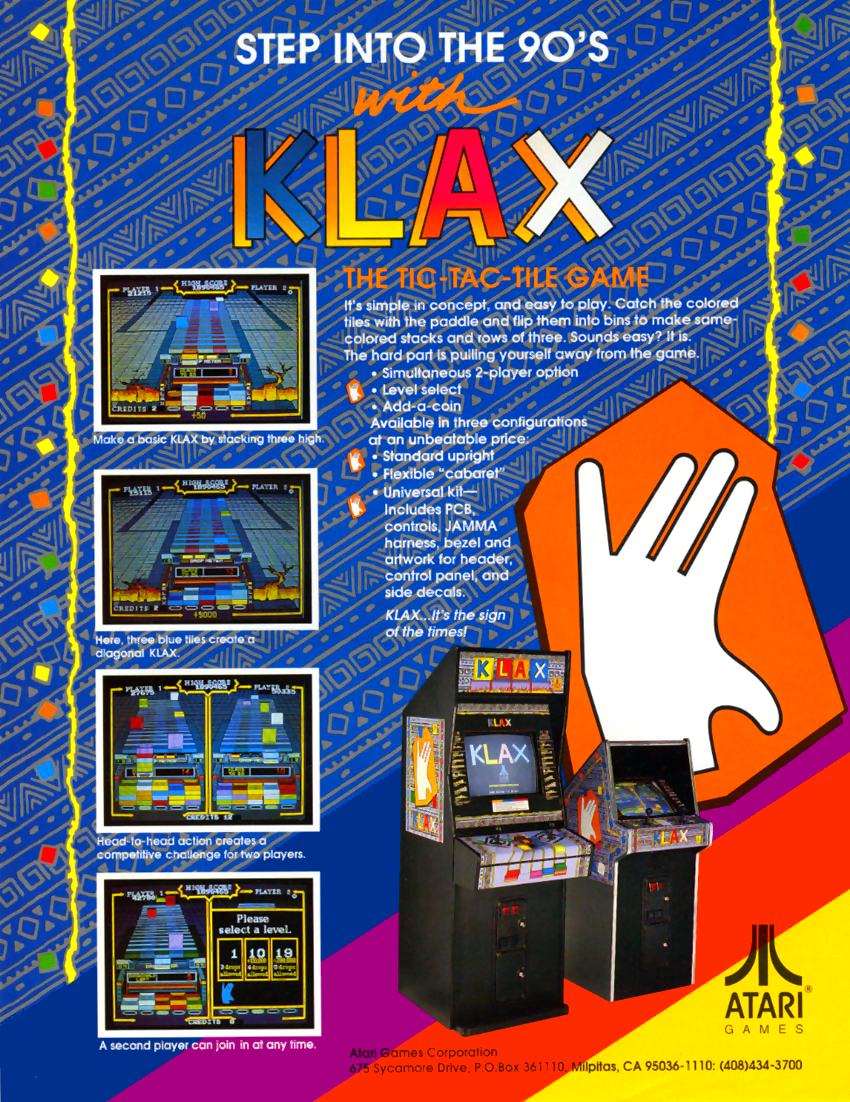 Klax (set 1) flyer