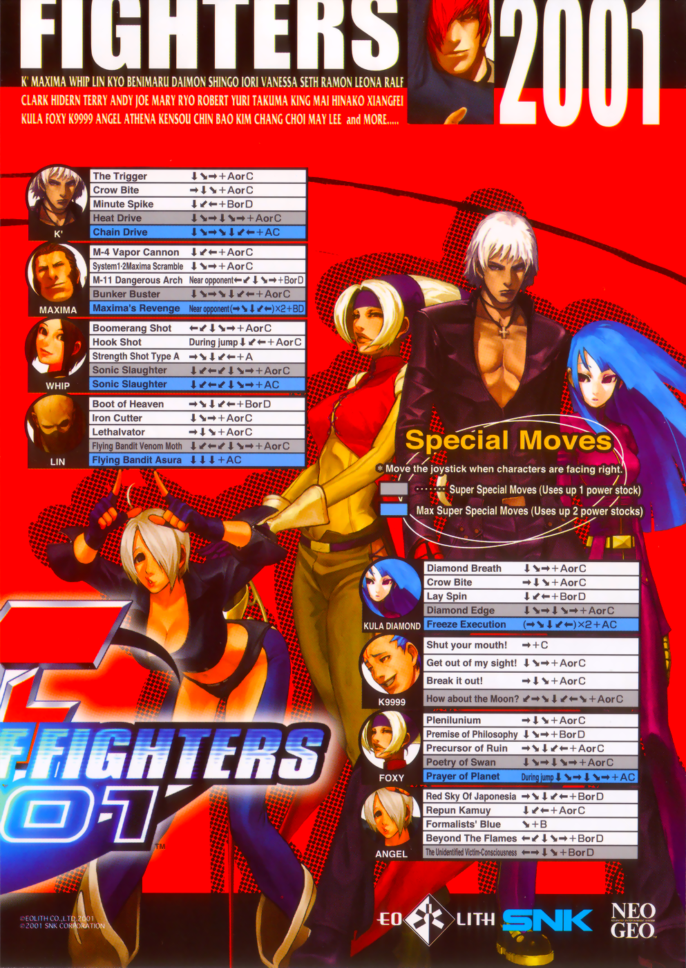 The King of Fighters 2001 (NGH-2621) flyer