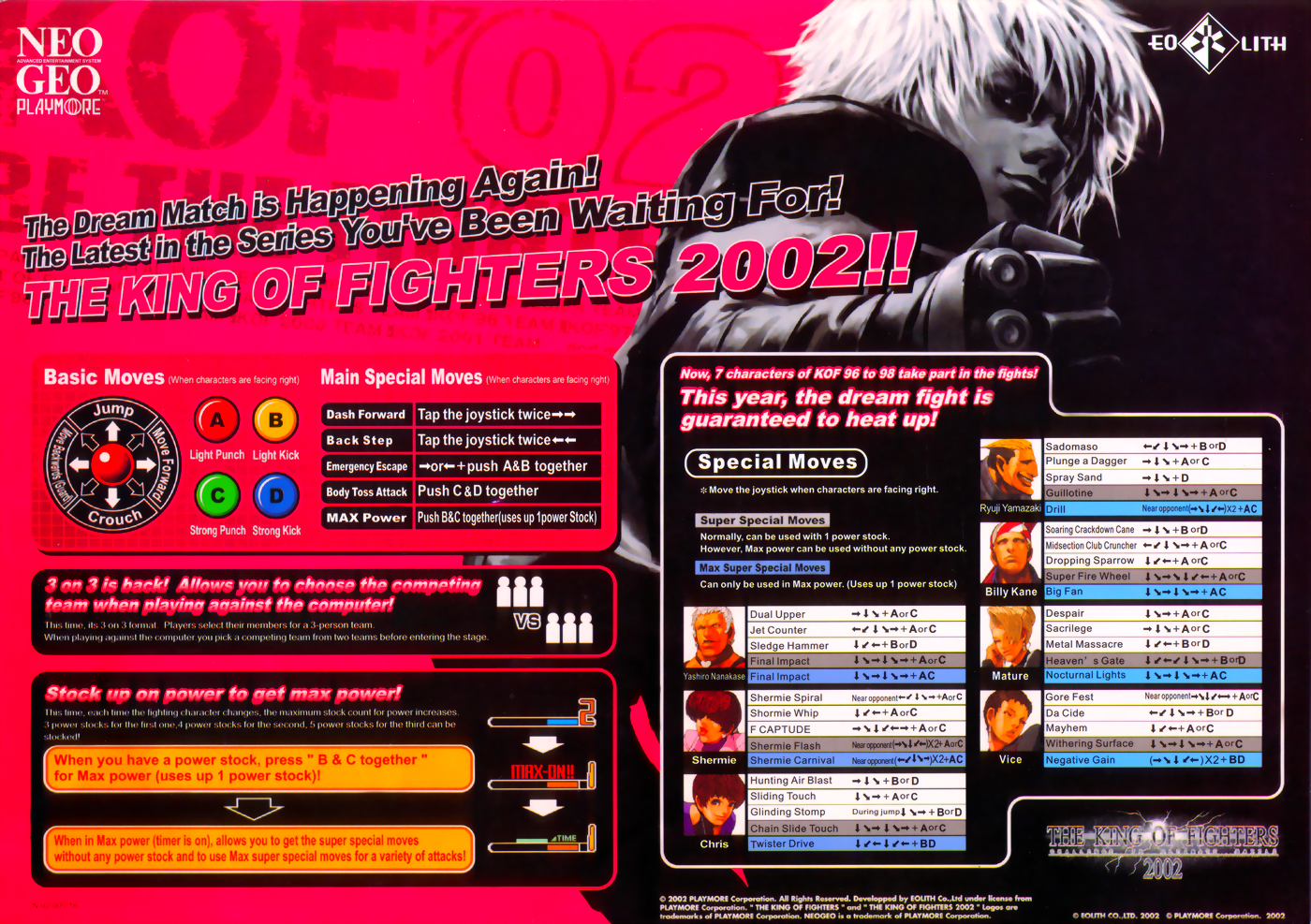The King of Fighters 2002 flyer