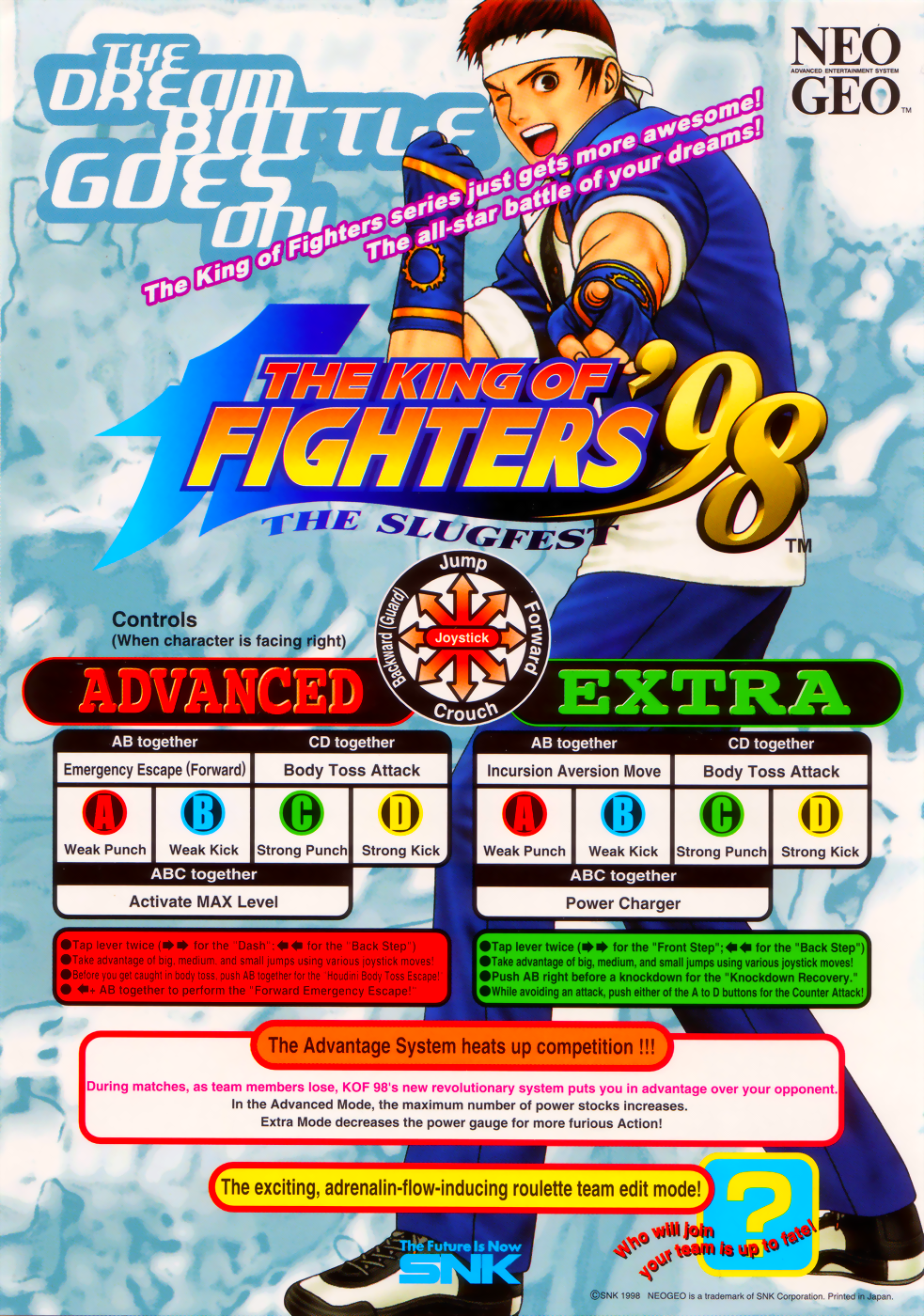 The King of Fighters '98 - The Slugfest / King of Fighters '98 - Dream Match Never Ends (Korean board, set 1) flyer
