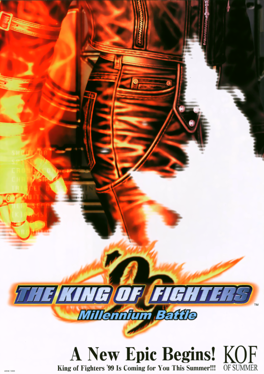 The King of Fighters '99 - Millennium Battle (earlier) flyer