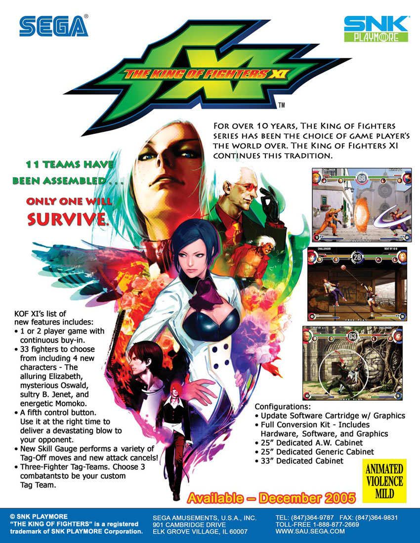 The King of Fighters XI flyer