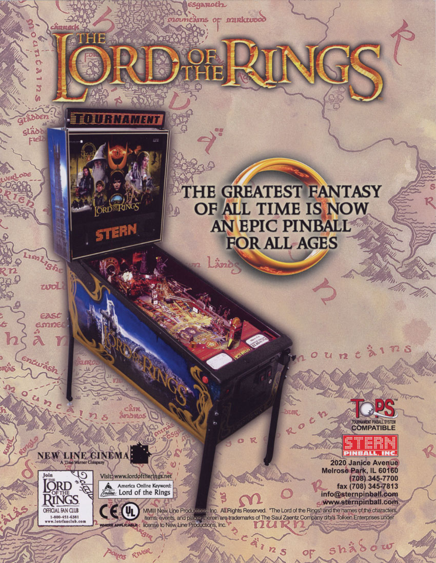 The Lord Of The Rings (10.00) flyer