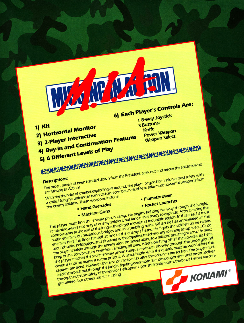 M.I.A. - Missing in Action (version S) flyer