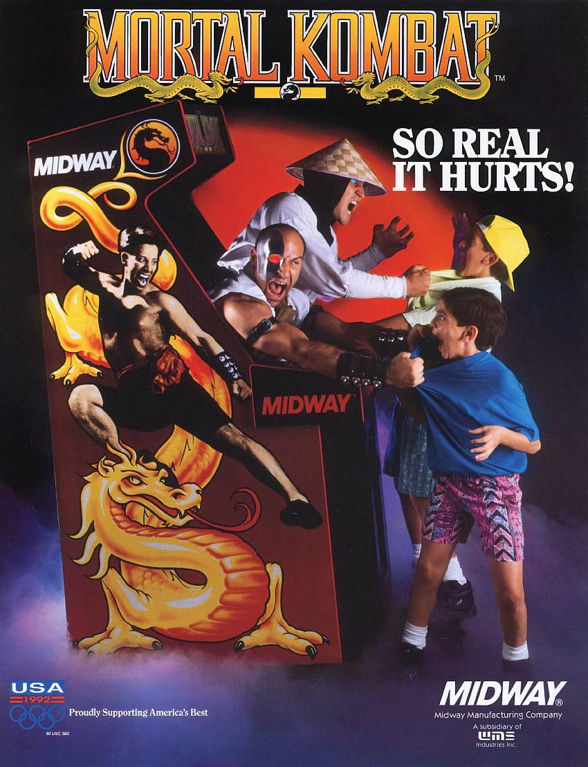 Mortal Kombat (rev 5.0 T-Unit 03/19/93) flyer