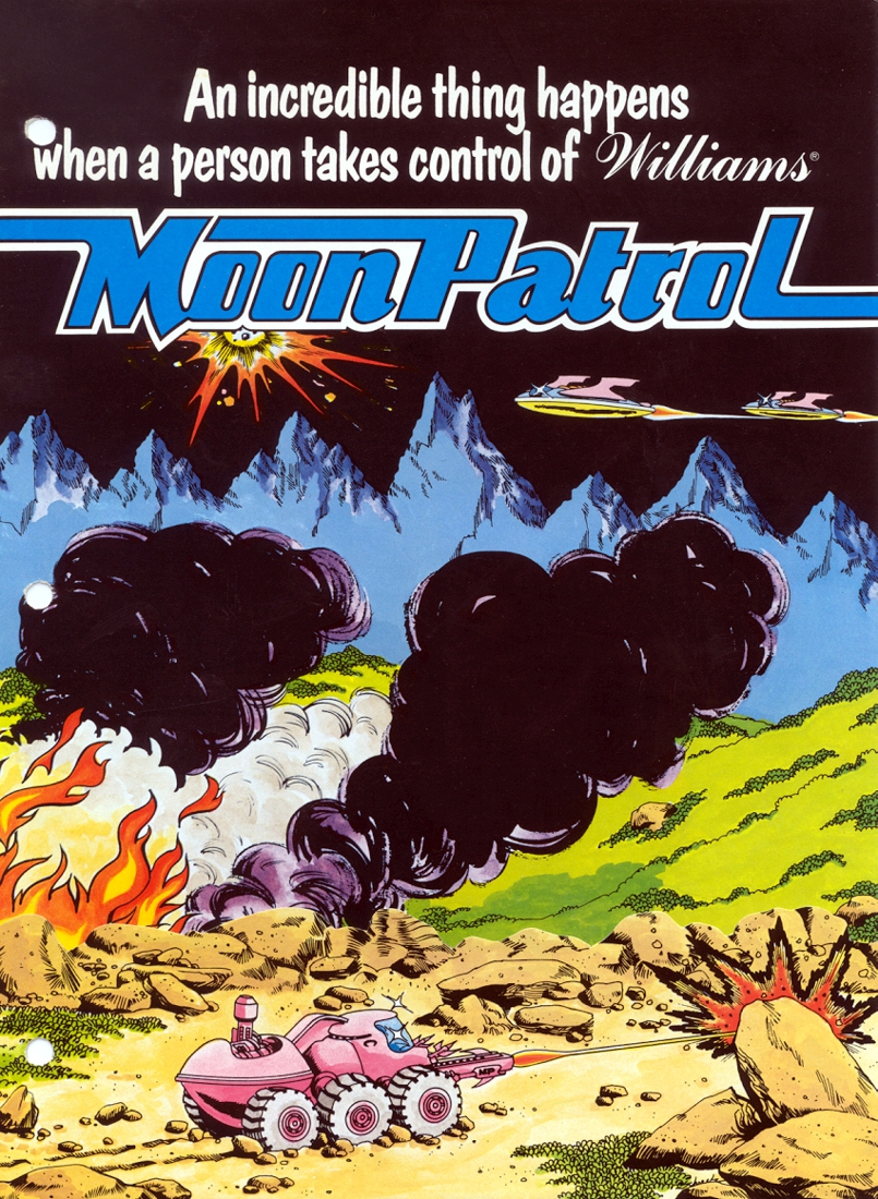 Moon Patrol flyer