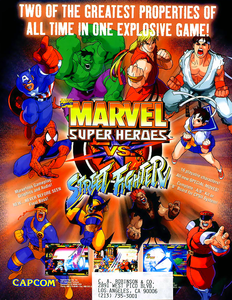Marvel Super Heroes Vs. Street Fighter (Brazil 970625) flyer