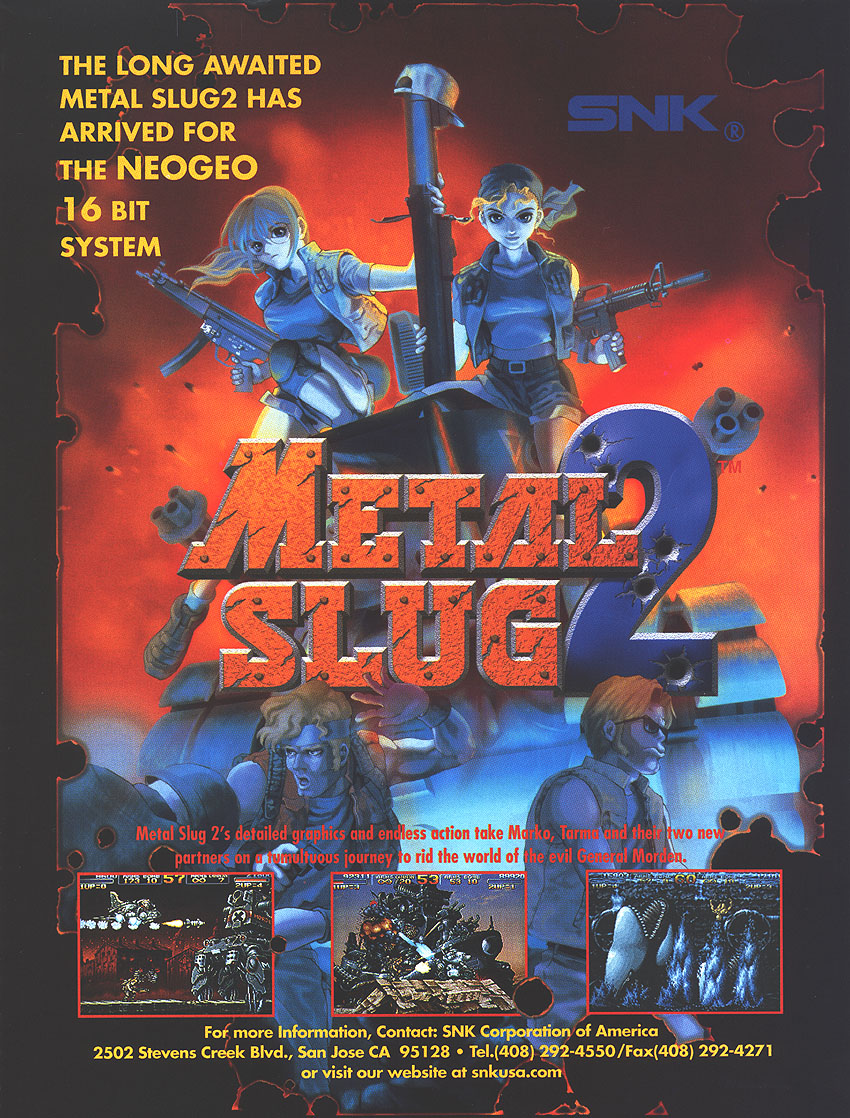 Metal Slug 2 - Super Vehicle-001/II (NGM-2410 ~ NGH-2410) flyer