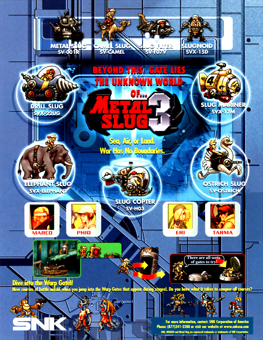 Metal Slug 3 (NGH-2560) flyer