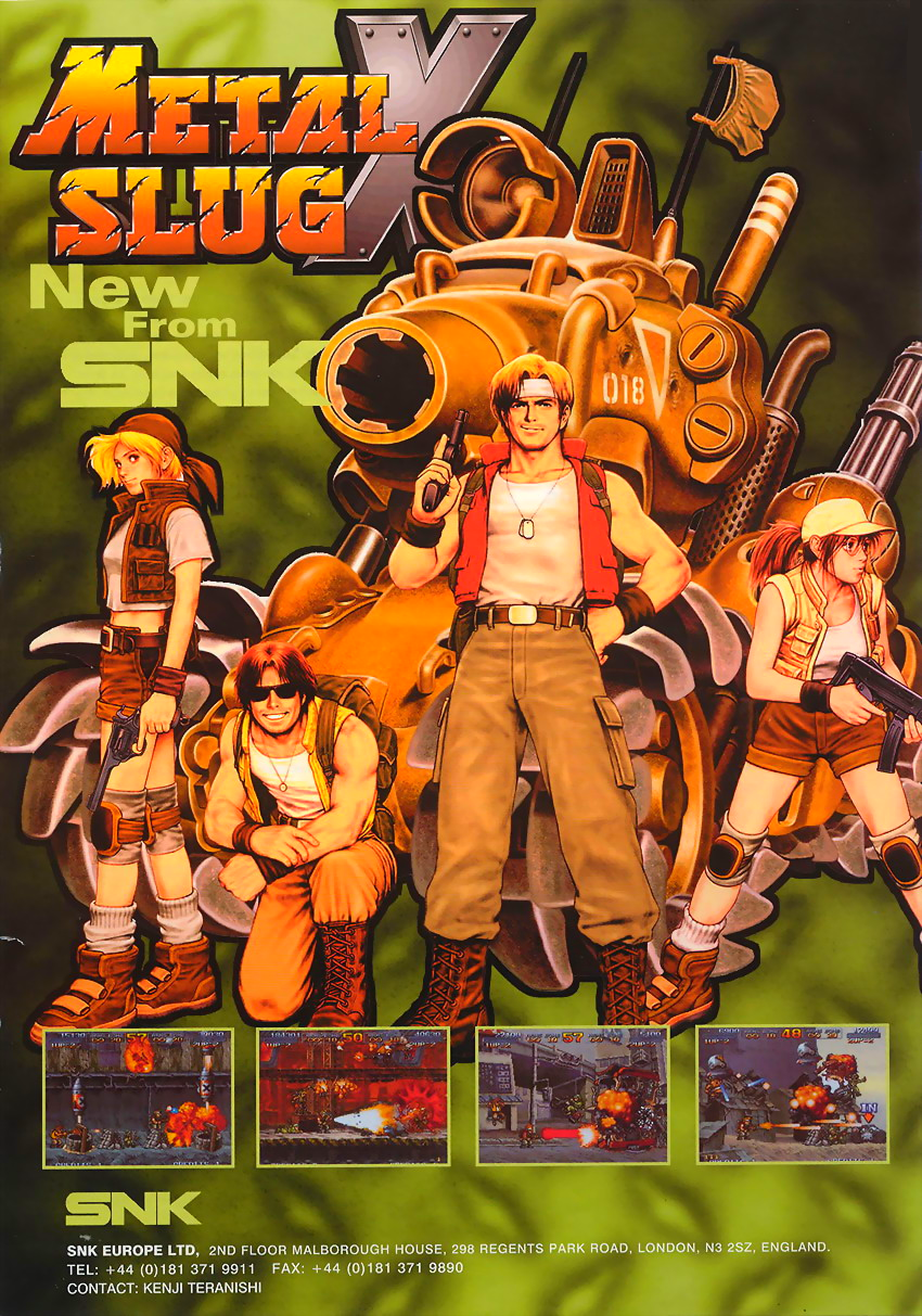Metal Slug X: Super Vehicle-001 flyer
