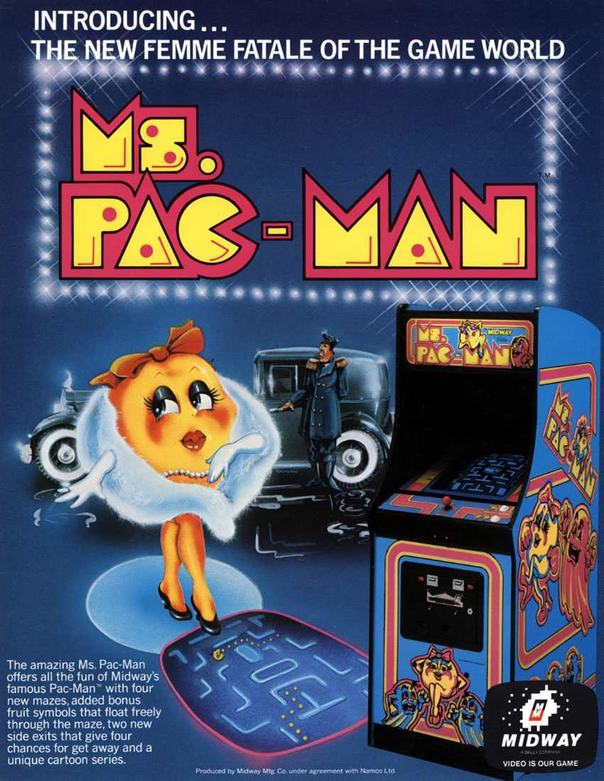 Ms. Pac-Man flyer