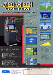 After Burner (Mega-Tech, SMS based) flyer