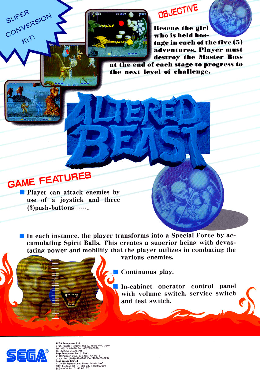Altered Beast (Mega-Tech) flyer