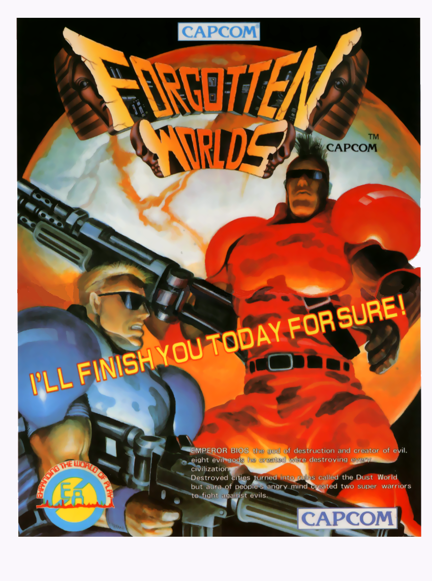 Forgotten Worlds (Mega-Tech) flyer
