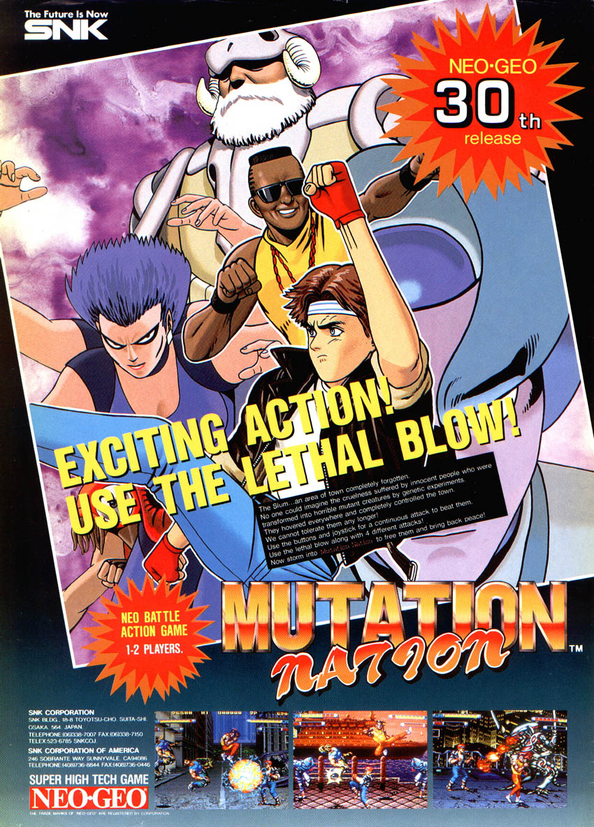 Mutation Nation (NGM-014 ~ NGH-014) flyer