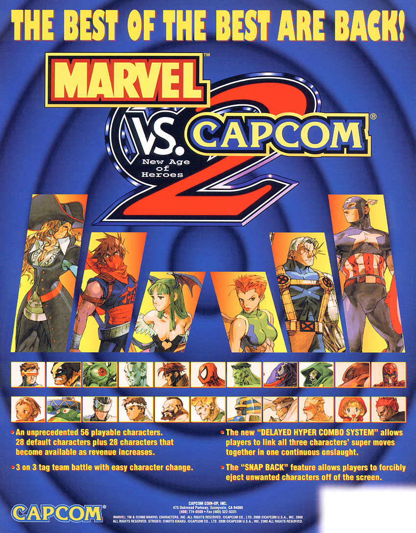 Marvel Vs. Capcom 2 New Age of Heroes (Export, Korea, Rev A) flyer